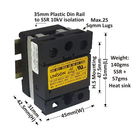 RANDOM DC TO AC SOLID STATE RELAY Product categories Unison