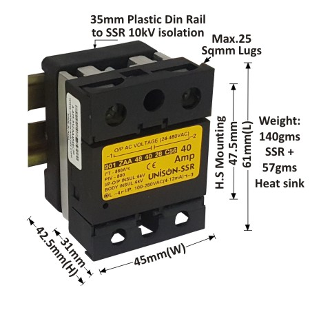 Zero Cross Over Ac To Ac Solid State Relay Product