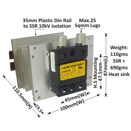 ZERO CROSS OVER DC TO AC SOLID STATE RELAY (UL APPROVED