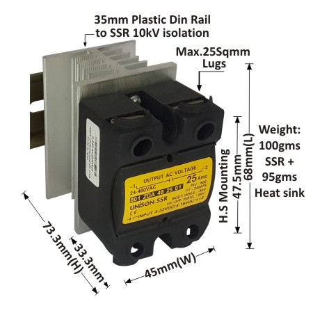 Zero Cross Over Dc To Ac Solid State Relay Product