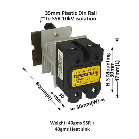 ZERO CROSS OVER DC TO AC SOLID STATE RELAY Product categories Unison